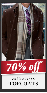 70% OFF* Topcoats