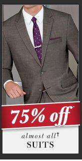 75% OFF* Suits