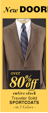DOORBUSTER Traveler Solid Sportcoats - over 80% Off*