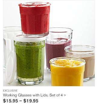 EXCLUSIVE - Working Glasses with Lids, Set of 4 - $15.95 - $19.95