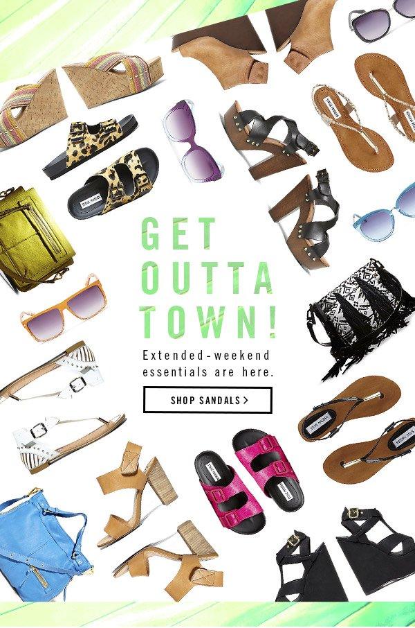 Get Outta Town! Shop Sandals