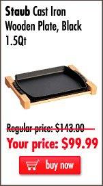 Staub Cast Iron Wooden Plate