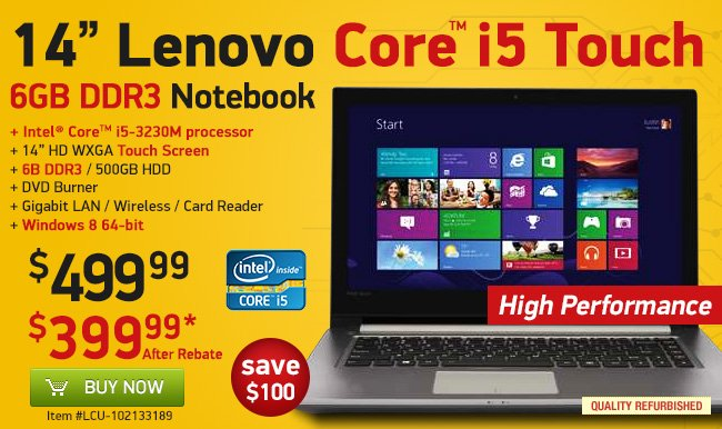 14-Inch Core i5 Touch Laptop