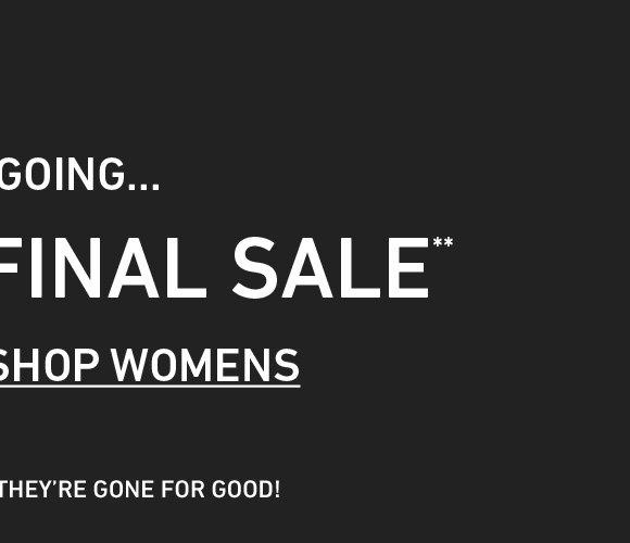 Shop Women's 70+% Off Final Sale