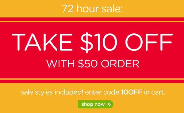 Take $10 Off With $50 Order - shop now