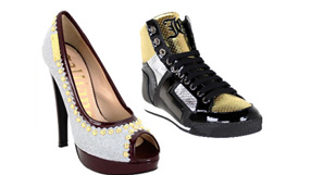 Cavalli and Galliano Footwear
