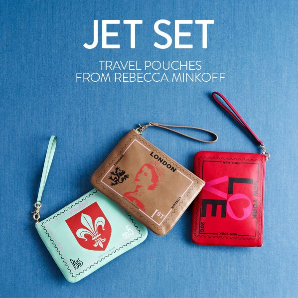 JET SET - TRAVEL POUCHES FROM REBECCA MINKOFF
