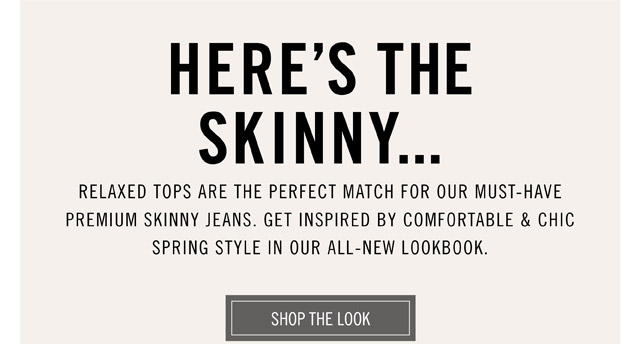 Here's The Skinny... - Shop The Look