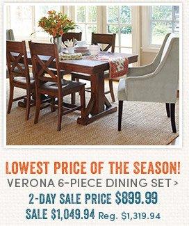 Lowest Price of the Season! Verona Dining Set