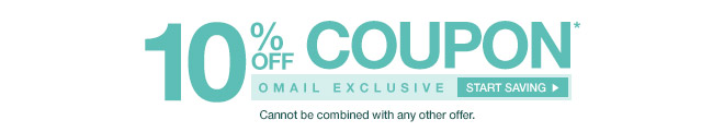 Omail - 10% off Coupon* - Cannot be combined with any other offer. Start Saving
