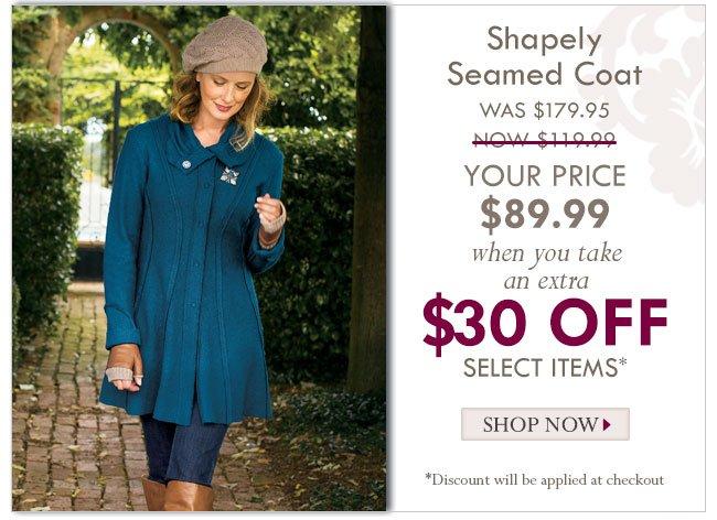 Shapely Seamed Coat