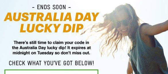 Australia Day Lucky Dip Ends Soon!