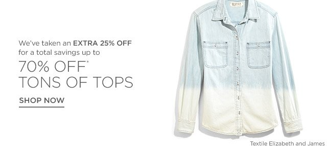 Up to 70% off Tops