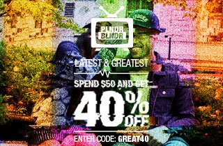 Check out the Latest & Greatest: 40% off $50 on PLNDR.com