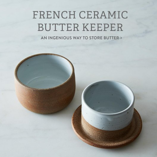 French Ceramic Butter Keeper