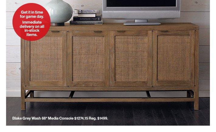 Blake Grey Wash 68in Media Console  $1274.15 Reg. $1499.