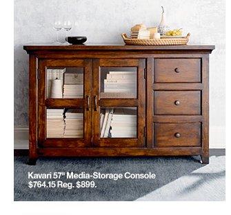 Kavari 57in Media-Storage Console $764.15  Reg. $899.