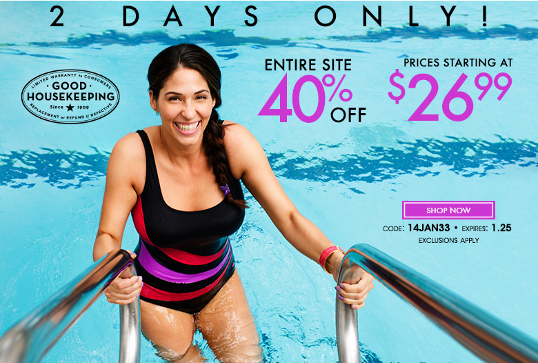 2 days only - entire site 40% off - prices starting at $26.99