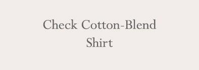 Check Cotton-Blend Shirt