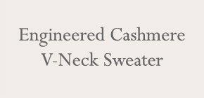 Engineered Cashmere V-Neck Sweater