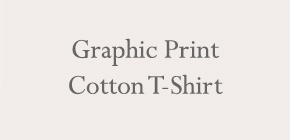 Graphic Print Cotton T-Shirt
