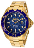 Men's Pro Diver Blue Textured Dial 18K Gold Plated Stainless Steel