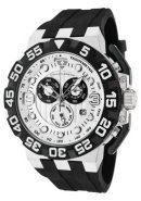 Men's Challenger Chronograph Light Silver Dial Black Silicone