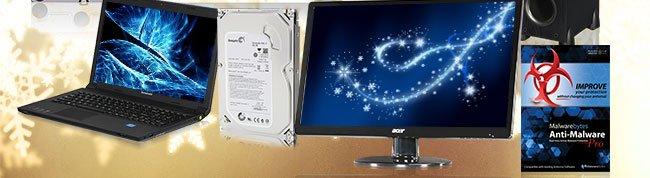 "menu: Acer 21.5"" 1080p LED-LCD Monitor, Polk Audio New Monitor 55T Floorstanding Loudspeaker, Malwarebytes Anti-Malware Pro Lifetime 1 PC, Lenovo Core i3 2GB Windows 7 Pro Notebook, Seagate 500GB 7200 RPM Internal Hard Drive"
