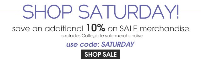 Save an additional 10% off sale items.
