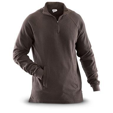 Carhartt® Textured-knit 1/4-zip Mock-neck Shirt