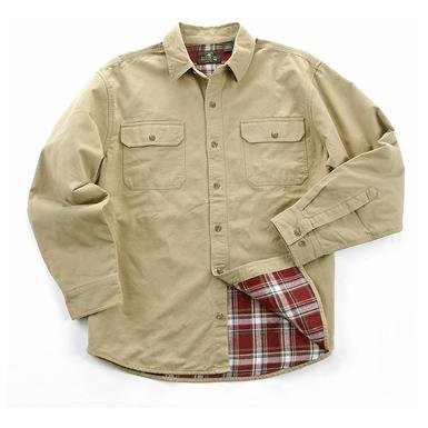 Long-sleeved Flannel Twill Shirt