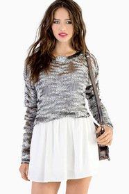 Textured Signature Crop Sweater 35