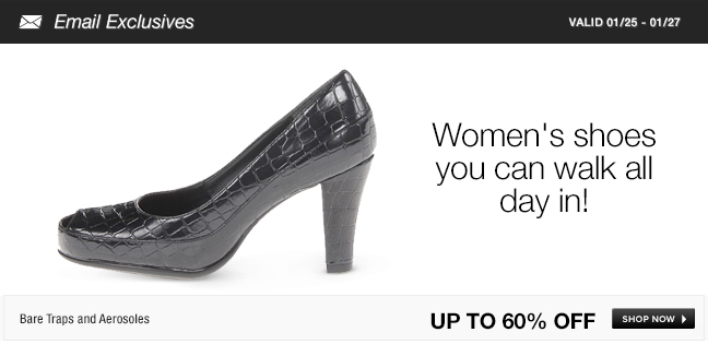 Women's shoes you can walk all day in