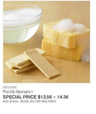 EXCLUSIVE - Pop-Up Sponges - SPECIAL PRICE $13.56 - 14.36 - REG.$16.95 - $17.95, 20% OFF REG. PRICE