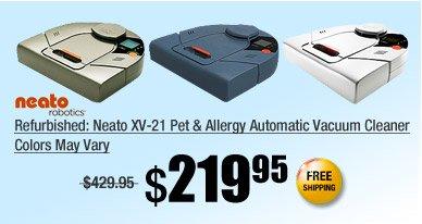 Refurbished: Neato XV-21 Pet & Allergy Automatic Vacuum Cleaner