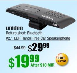 Refurbished: Bluetooth V2.1 EDR Hands Free Car Speakerphone