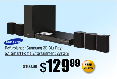 Refurbished: Samsung 3D Blu-Ray 5.1 Smart Home Entertainment System