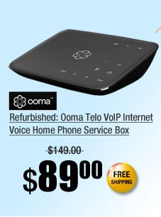 Refurbished: Ooma Telo VoIP Internet Voice Home Phone Service Box
