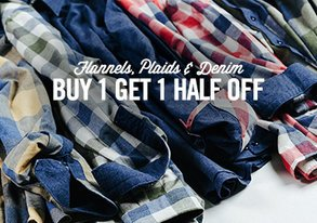 Shop Flannels, Plaids & Denim from $25