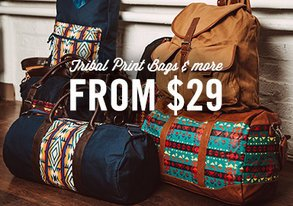 Shop Tribal Print Bags & More from $29