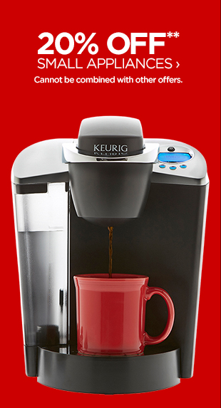20% OFF**  SMALL APPLIANCES › Cannot be combined with other offers.