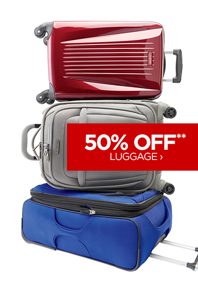 50% OFF** LUGGAGE ›