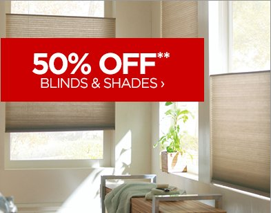 50% OFF** BLINDS & SHADES ›