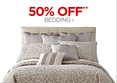 50% OFF** BEDDING ›