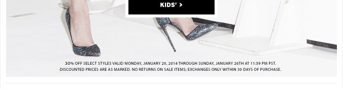 The End Of Season Sale - Shop Kids'