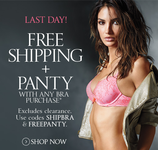 Last Day! Free Shipping + Panty with Bra Purchase