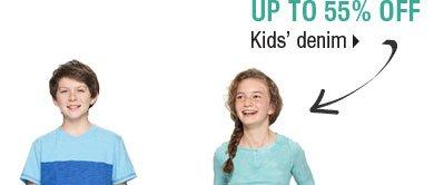 Up to 55% off kids' denim.