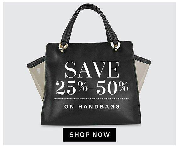 Save 25%-50% on handbags. Shop Now