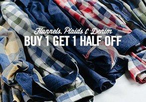 Shop Flannels, Plaids & Denim from $25