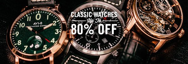 Shop NEW: Classic Watches up to 80% Off